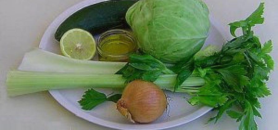 Постный салат из сельдерея